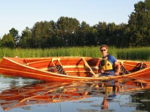 Steve in his canoe