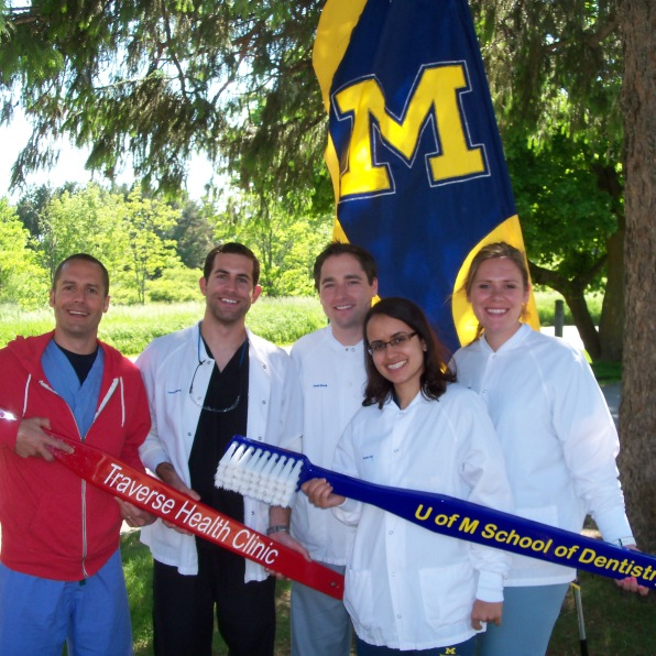 June Collaborative Clinic at Grand Traverse Oral Surgery (GTOS) We had Dr. Dan Madion, UM-Monika Hall, Daniel Lingenfelter, Daniel Shoop, Whitney Yahn