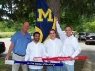 Dr. Olsen with UM Dental Students Yazdan Haider, Lucio Persichetti, Peter VanBeck